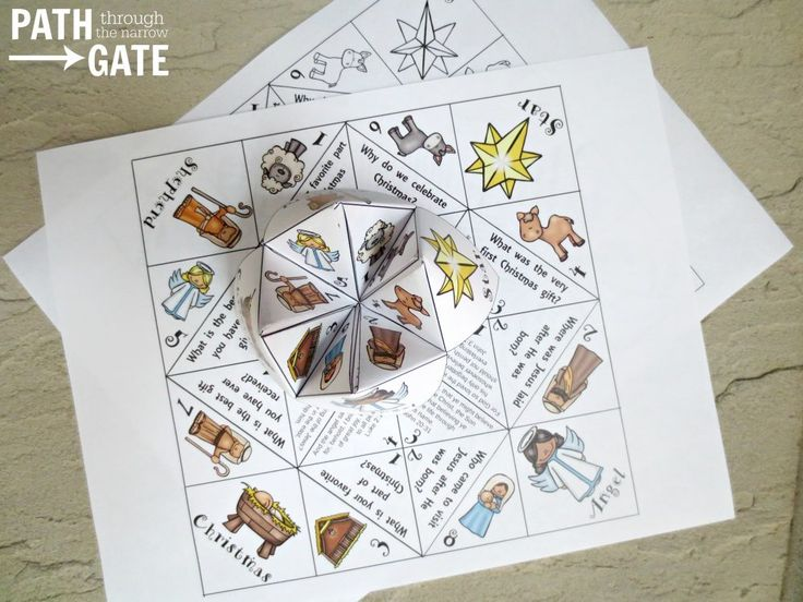 Adorable Printable Christmas Finger Puzzle With Bible