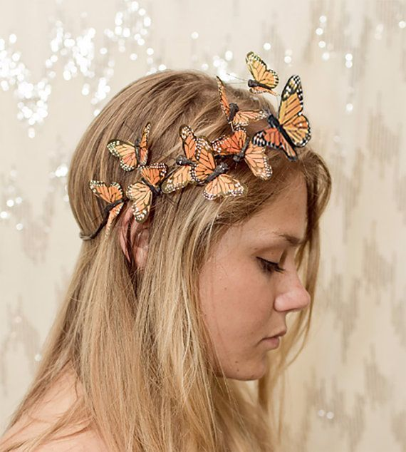 Orange Monarchfalter Crown Prinzessin Märchen von neesiedesigns