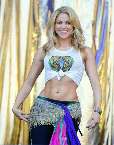Shakira -- her hips (and abs) don't lie...