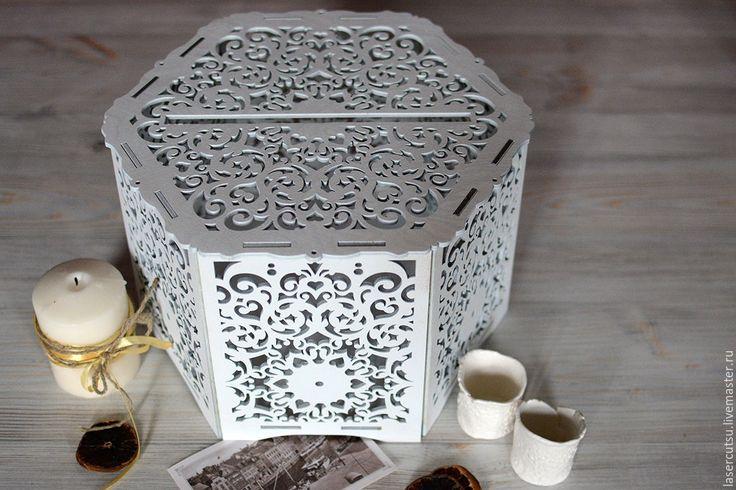 Купить Свадебная коробка для конвертов - свадебные аксессуары, свадебный декор, короб для хранения, короб для конфет