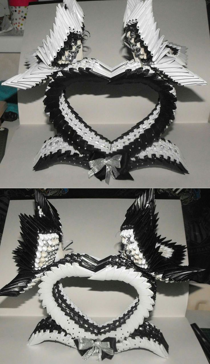 Black and white hearts. 1324 pieces in each of them.