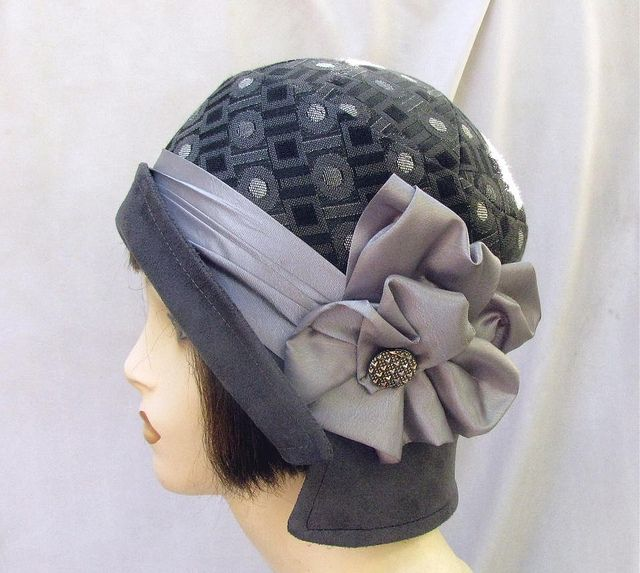 20s Style Cloche in Charcoal and Gray by Vintage Style Hats by Gail, via Flickr