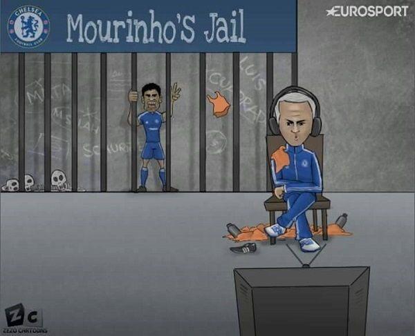Jose Mourinho posadził swojego napastnika na ławce rezerwowych • Diego Costa znalazł w więzieniu Mourinho • Wejdź i zobacz więcej >> #football #soccer #sports #pilkanozna