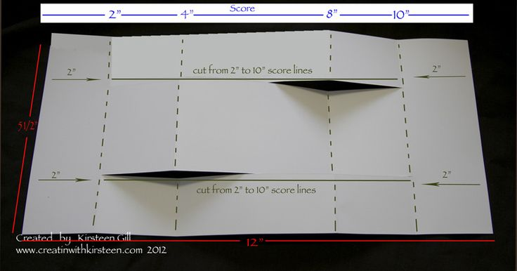 Fancy Tri Shutter Fold Template