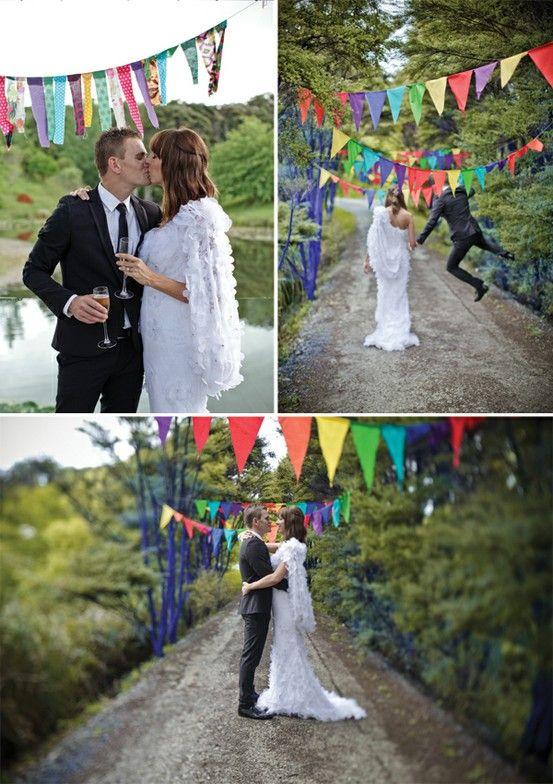 Magnolia Rouge - Rainbow Wedding Rainbow Wedding Themed. Coloured Wedding. Wedding Ideas. Multicoloured Weddings