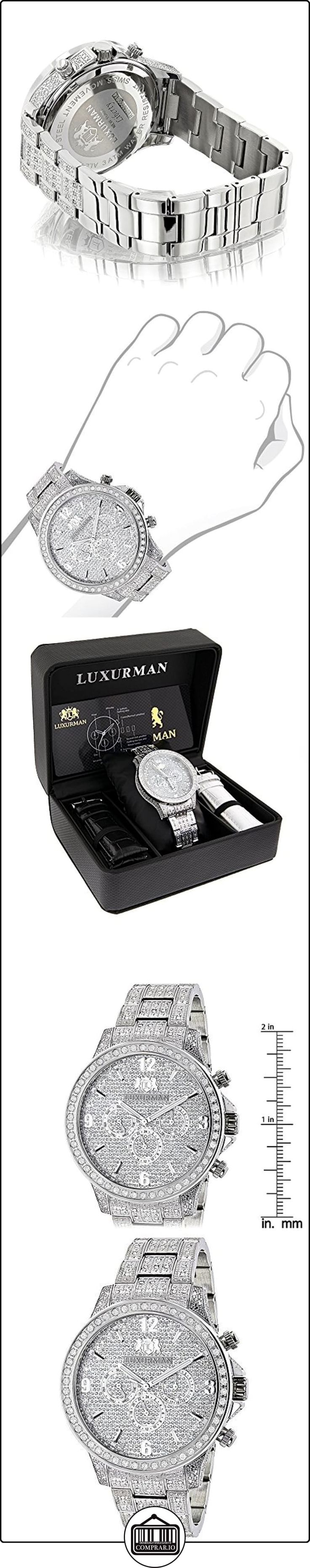 Fully Iced Out Watches: LUXURMAN Mens Diamond Watch 3 carats Liberty de  ✿ Relojes para hombre - (Lujo) ✿