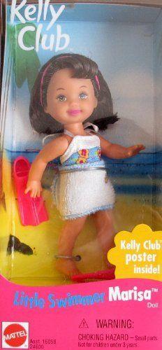 Barbie Kelly LITTLE SWIMMER MARISA Doll w Swim Fins (1999 Kelly Club Collector Series) by Mattel. $42.99