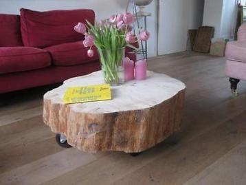 Schitterende boomstamtafels bij de tafeldame u kunt alleen het blad kopen en de tafel zelf maken blad n of ik kan hem maken voor u alleen het blad ca 70x20 hoog 65 euro ca 80x20 hoog 75 euro ca 90x20
