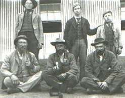 Boer Prisoners-of-War captured during the Anglo-Boer War (1899-1902) at the Bellevue Camp, Simon's Town in 1901.