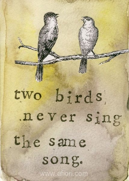 Communication Two Birds collage 7x10 print by afiori on Etsy, $25.00