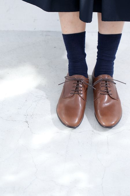 hobonichi+a. 革ひも靴(茶) Leather shoes (brown)  2014-2015 aw