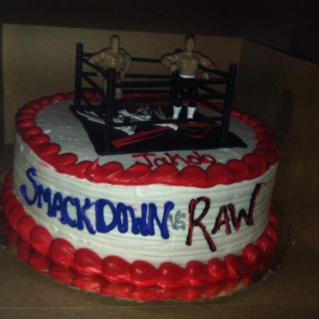 Jakob's cool wrestling birthday cake!!