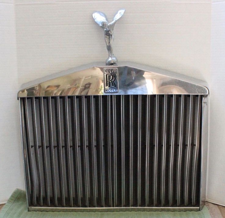 1978 ROLLS ROYCE SILVER Shadow II CHROME HOOD GRILL W/ FLYING LADY #RollsRoyce