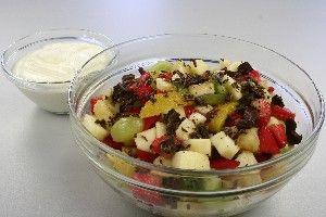 Abemad med råcreme<3 (frugtsalat)