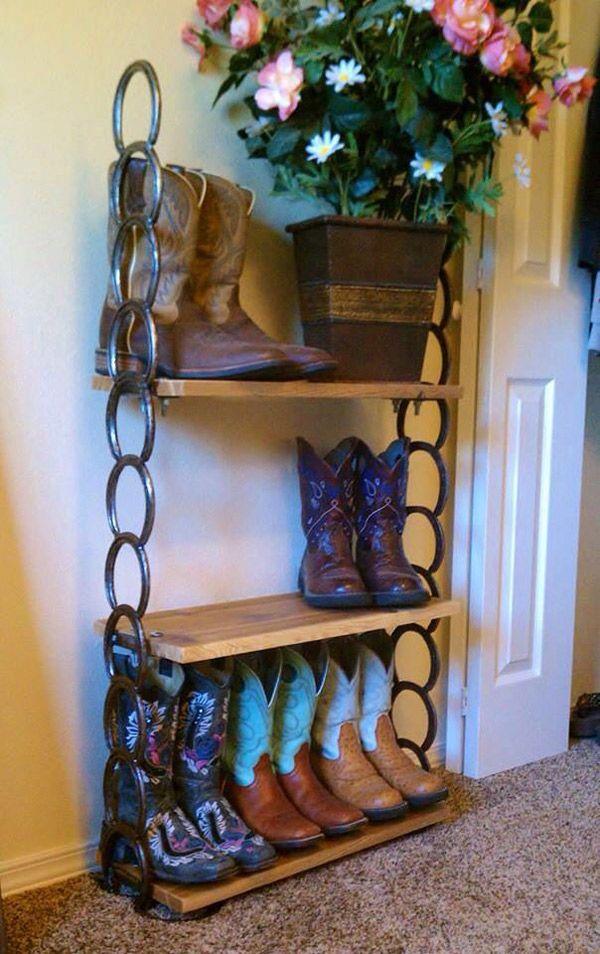 Cowboy-boot-storage-horseshoe-shelf