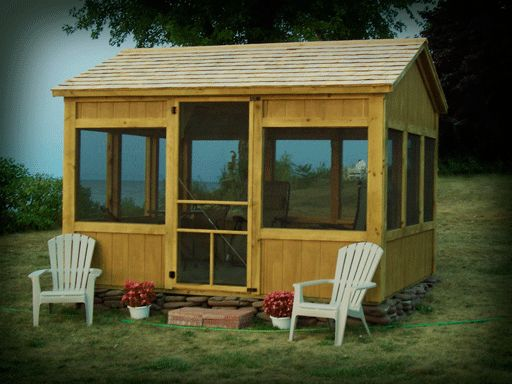 Custom Built Screenhouses - by uniqueGardenSheds in Lyons, NY - Custom Built Screenhouses  What a geat place to relax, read a book, have a drink - and tell Mr. Mosquito he's not welcome.