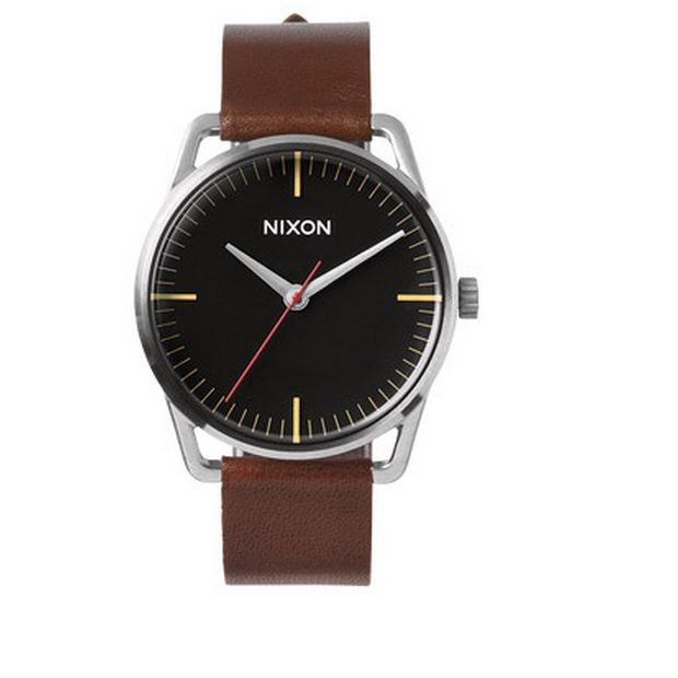 The 51-30 Chronograph Leather watch by Nixon. Available at Dezeen Watch Store: www.dezeenwatchstore.com
