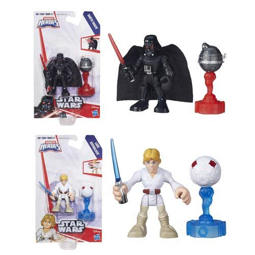 Star Wars Galactic Heroes Featured Figure Wave 1 Set - Hasbro - Star Wars - Mini-Figures at Entertainment Earth