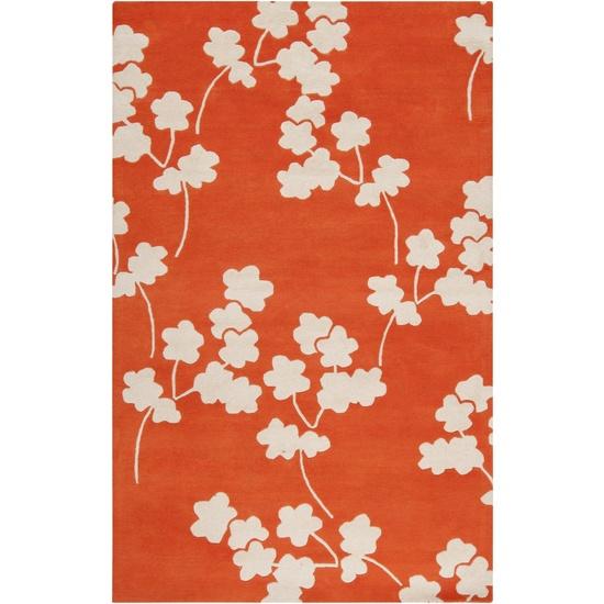 Surya's Zuna rug - totally spring!Cherries Blossoms, Dining Room, Area Rugs, Zuna, Colors, Neon Orange, Wool Rugs, New Zealand, Jill Rosenwald