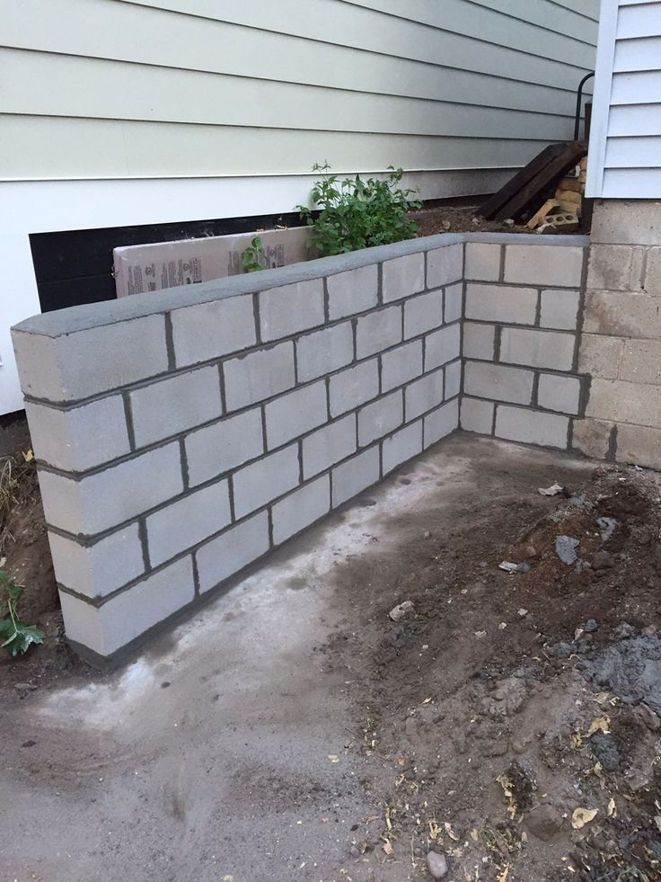 Block Retaining Wall Waterproofing : Windows basement egress retaining well damaged wall