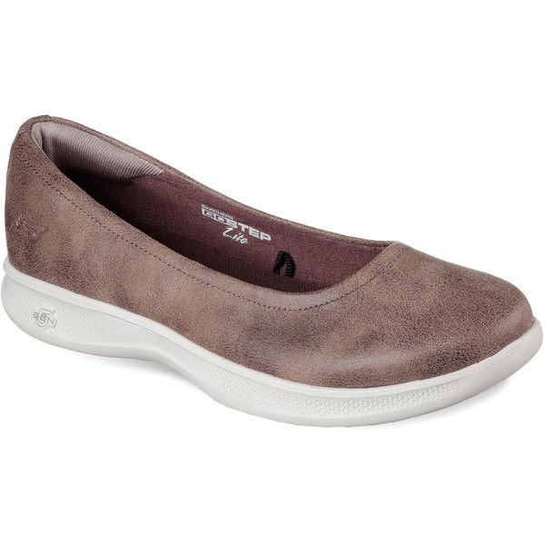 Skechers GO Step Lite Mystic Women's Slip On Shoes ($60) ❤ liked on Polyvore featuring shoes, dark brown, skechers footwear, skechers, grip shoes, flexible shoes and dark brown shoes