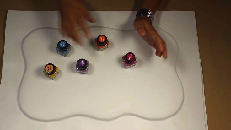 Fofuchas. Como hacer una base multicolor.