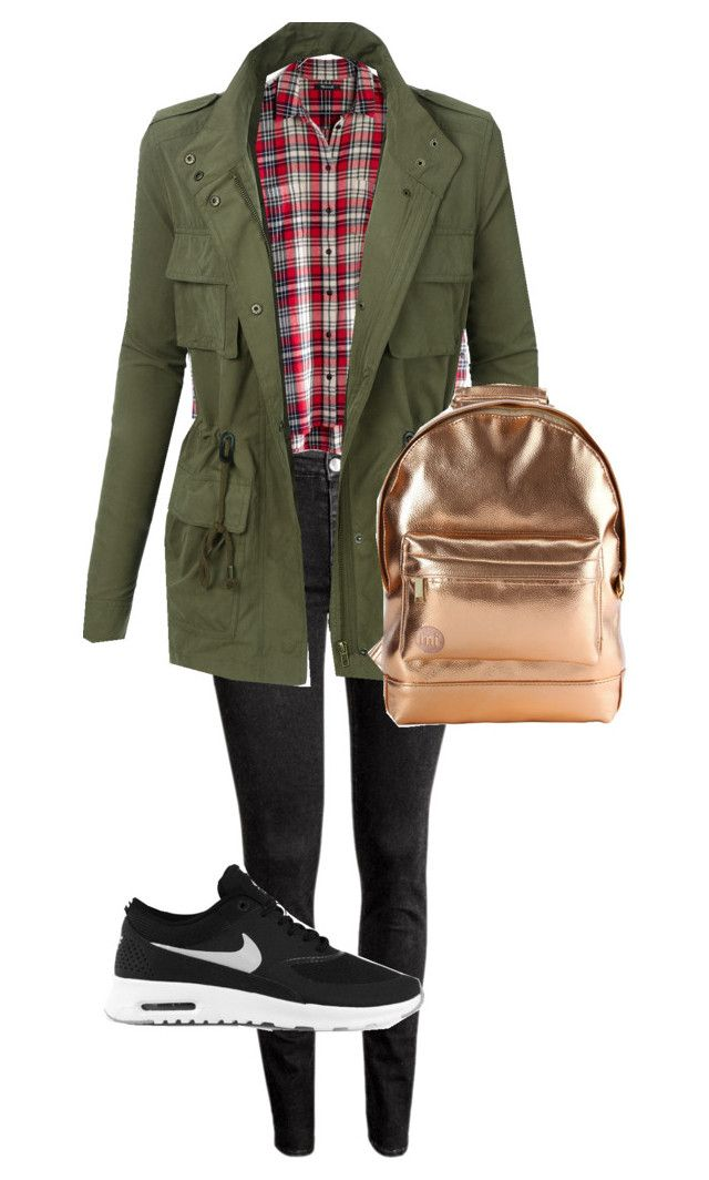 """""""Untitled #30"""" by evachrisomalli-1 on Polyvore featuring H&M, Madewell, NIKE, LE3NO and Mi-Pac"""