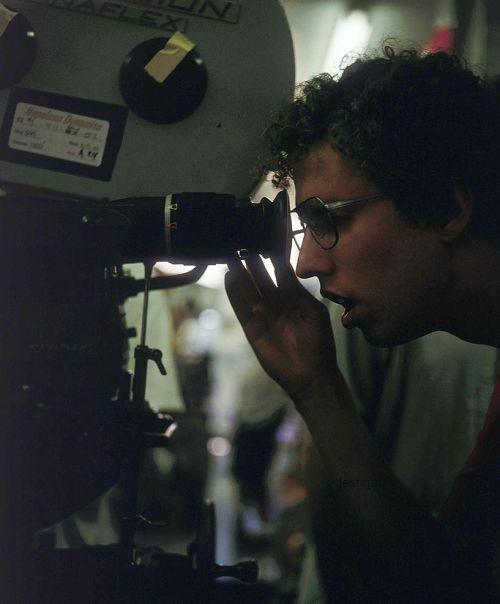 Jon Heder on the set of Napoleon Dynamite