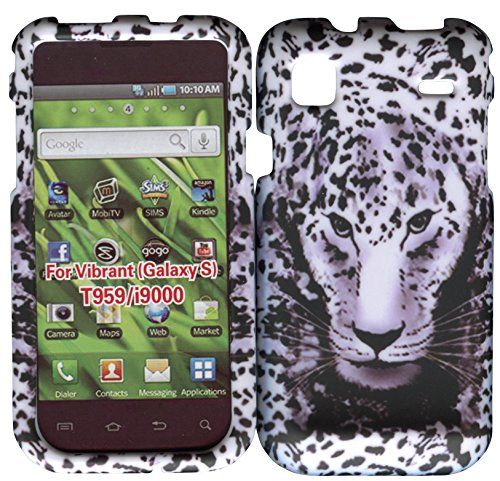 Buy White Leapord Samsung Galaxy S Vibrant T959, i9000 Case Cover Hard Phone Case Snap-on Cover Rubberized Touch Faceplates NEW for 4.99 USD | Reusell