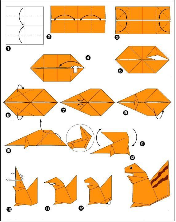 origami eekhoorn1 Origami eekhoorn