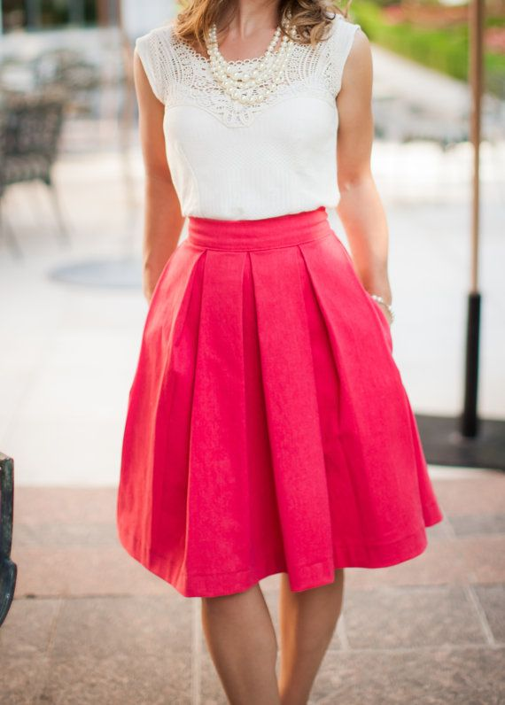 Sugar House Skirt in Red by DesignsByAshleeB on Etsy