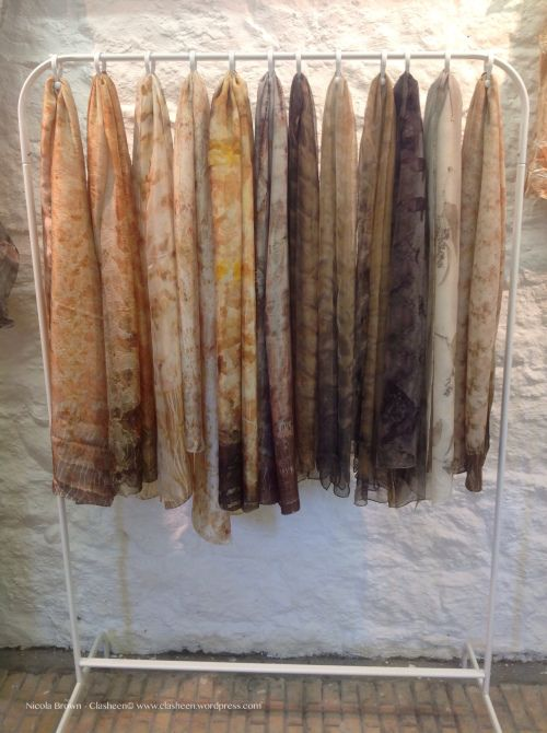 Craft fair and studio scarf display DIY | Nicola Brown Fine Art Textiles                                                                                                                                                                                 More