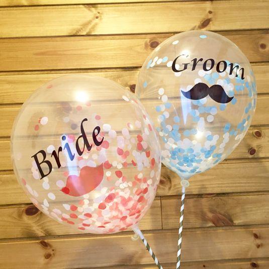 ハンドメイドマーケット+minne(ミンネ)|+再販2回目+バルーンプロップス「Bride&Groom」
