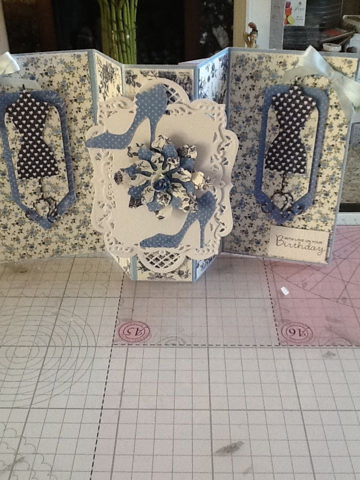 This is made using papers from Maja. i have added a die cut to the front