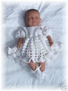 Baby Crochet Pattern Dress and Shoes - Sweet as Candy. $4.00, via Etsy. this would fit some of my smaller babies!  yippee