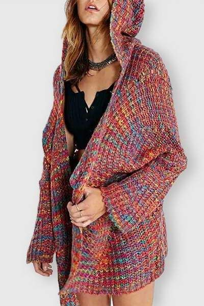 0a099ed5633 Rainbow Knitted Cardigan in 2019