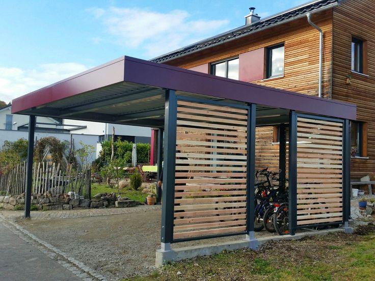 MyPort Carport aus Stahl/Holz. #carport #carports  #Doppelcarport #metallcarport #stahlcarport #Einzelcarport #Wohnmobil #Caravan #Wohnwagen #Auto #Fahrrad #design #architecture #architektur #myport
