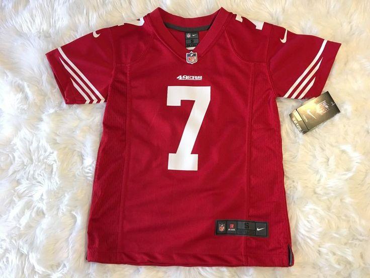 Red Nike Colin Kaepernick NFL San Francisco 49er's football Pro Jersey Youth S #Nike #SanFrancisco49ers