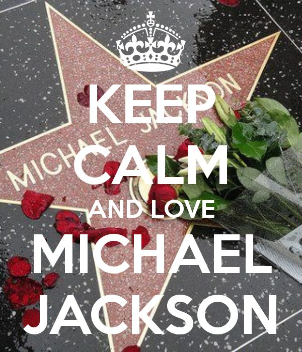 KEEP CALM AND LOVE MICHAEL JACKSON