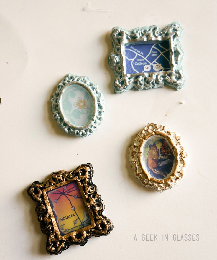 painting mod melts | Mod Melts Dollhouse Miniature Gilded Frames - A Geek In Glasses