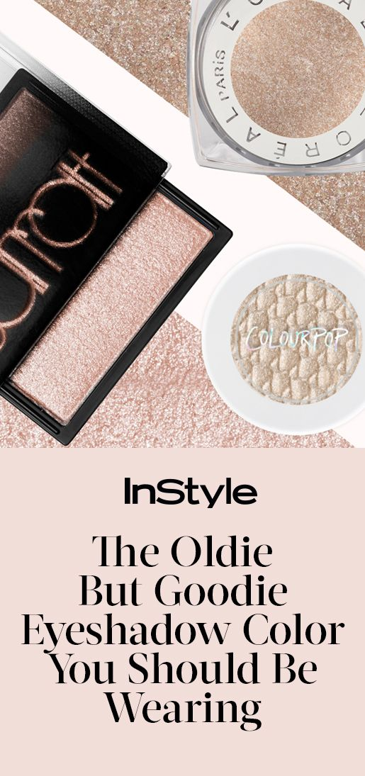 Go back to basics by swiping on a champagne eyeshadow shade | from InStyle.com