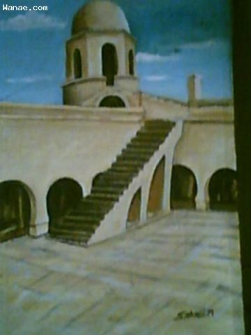 L'artiste SAKHRI - detail du rempart de sousse tunisie