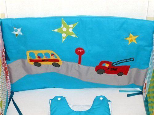 Un nouveau tour de lit pompier et bus scolaire.. Vroum vroum et Pin Pon