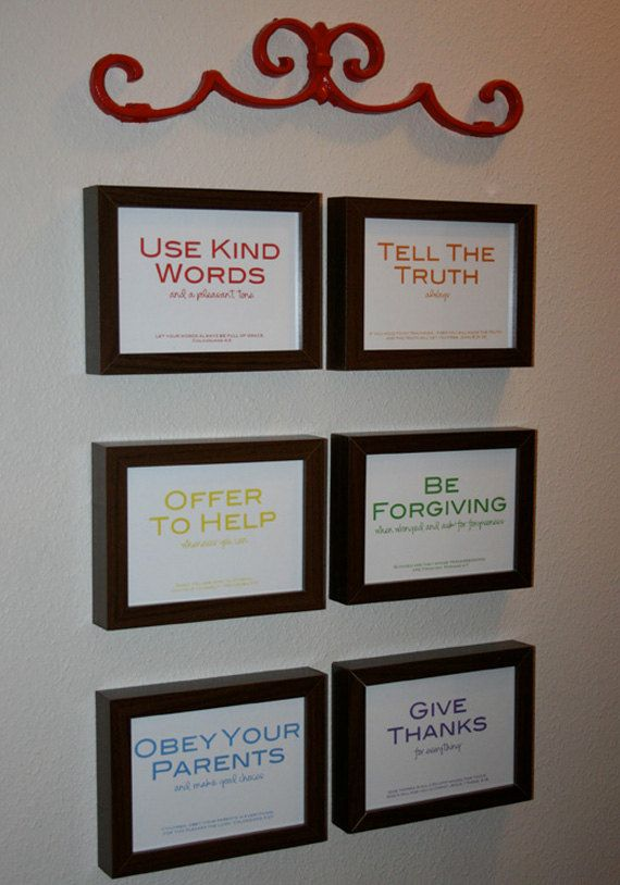 family rules w/ Bible verses.