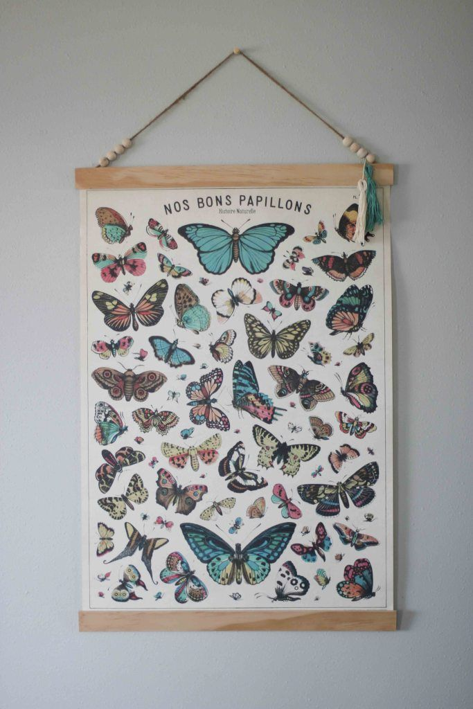 create your own poster frame to hang large prints diy steps from wwwthedempsterlogbook