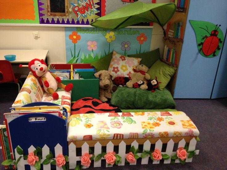 Reading corner reading garden idea school stuff for Raumgestaltung literacy