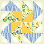 Dutchman's Puzzle:  for 12x12 finished size use: 3.5x3.5, 3.5x6.5  for 9x9 finished size use: 2.75x2.75, 2.75x5