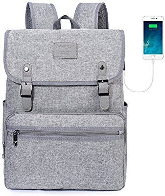 1bbcd73d7b7e $23 HFSX Laptop Backpack Men Women Business Travel Computer Backpack School  College Bookbag Stylish Water Resistant Vintage Backpack with USB Port  Fashion ...