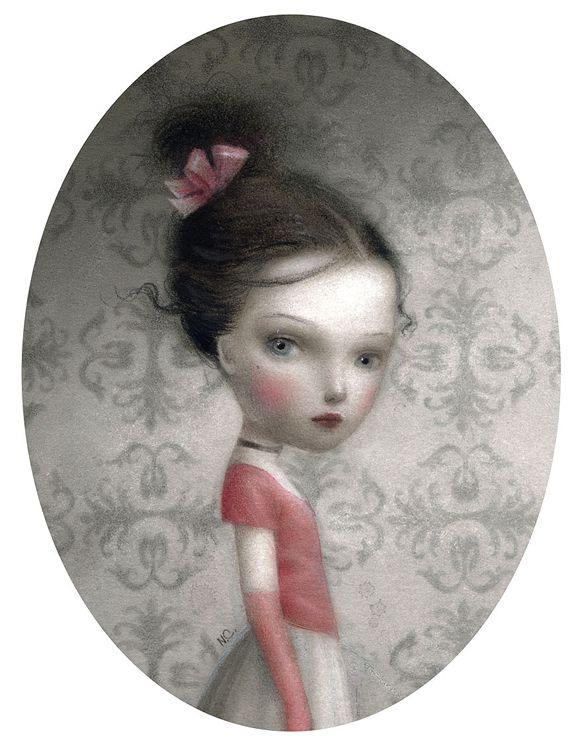 Cecilia study by Nicoletta Ceccoli--Love this artist.  Looks like my daughter Grace.