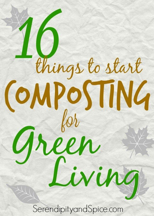 Things to start composting for green living. Having a hard time figuring out where to start with green living? Check out these 16 things you may not know are compostable.